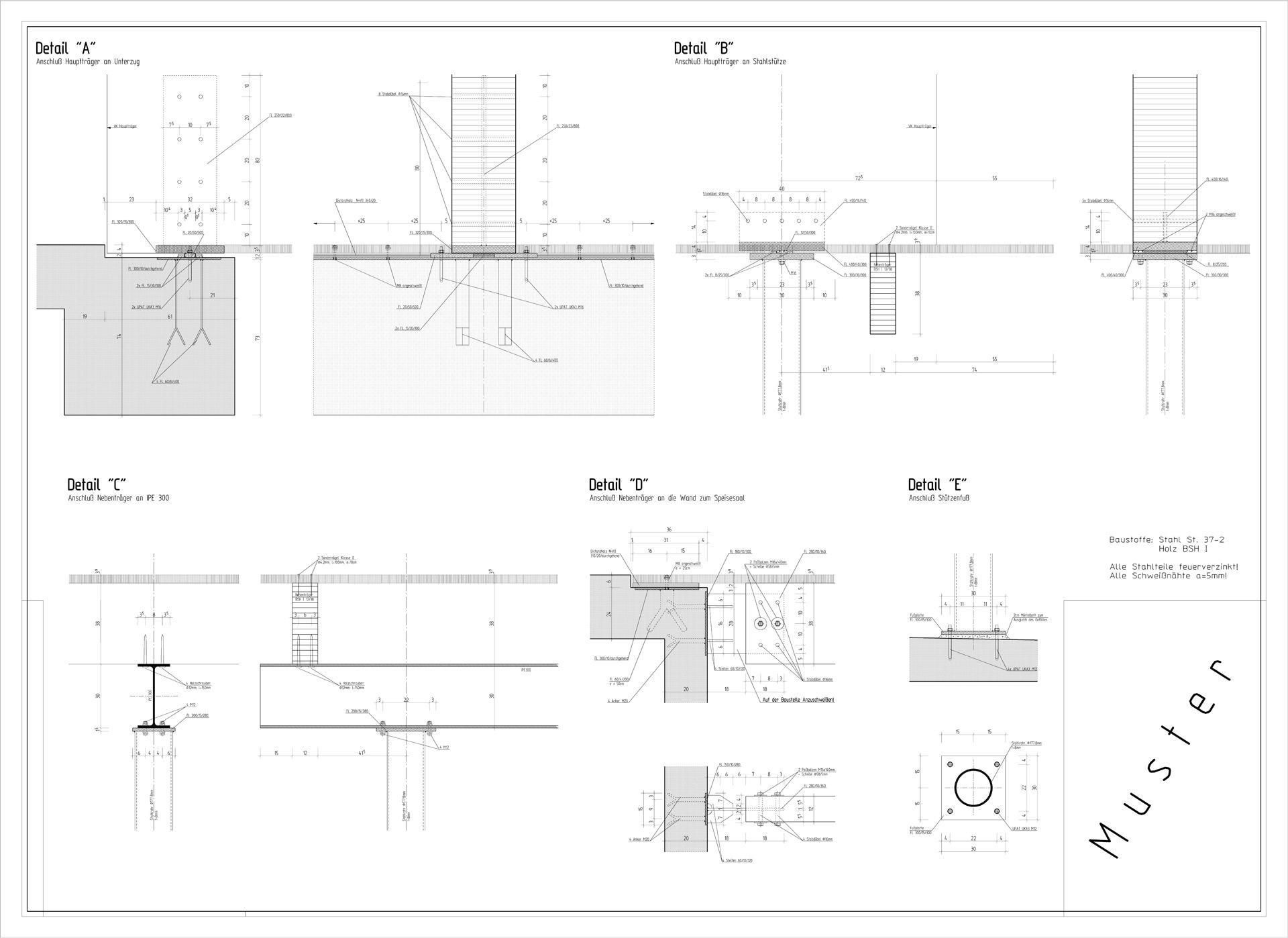 Holzbau detail wand  Konstruktionsbüro für Bauwesen Frank Stich